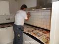 Veenendaal, tegelwerk bestaande keuken